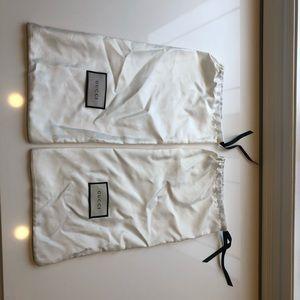 Gucci shoe dust bags